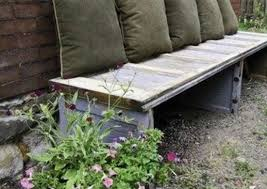 garage door panel recycled into a bench